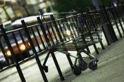 Nákupní vozík bezdomovec