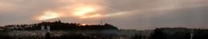 Panoramatický podzimní pohled na Žamberk